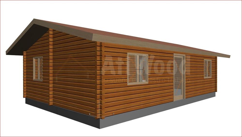 Casa de madera 55m2 2 habitaci n sin terraza atiwood for Casas de madera para terrazas